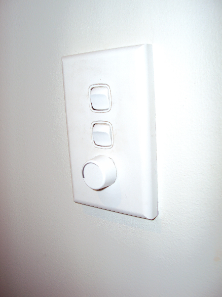 light switch with dimmer. Black Bedroom Furniture Sets. Home Design Ideas